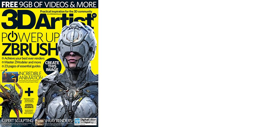 Our work in 3DArtist magazine!