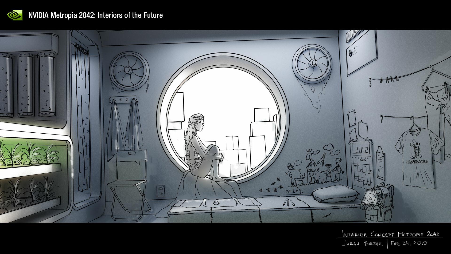 NVIDIA Metropia 2042 : Interiéry budúcnosti